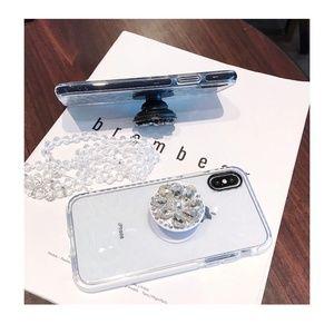 Accessories - Phone Holder/Pop Socket 3D Faux Diamond-Rhinestone
